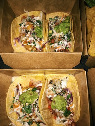 Takeout tacos from Dos Tacos. Source: Savannah Hamelin