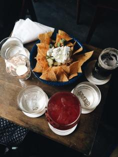 Cocktails with a side of chips & salsa at Candelaria, Paris, France. Source: Savannah Hamelin
