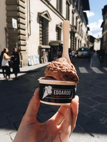 Nutella gelato from Edoardo's in Florence, Italy. Source: Savannah Hamelin